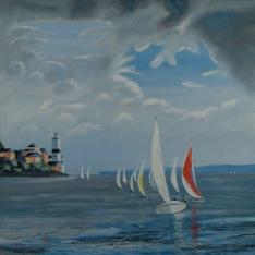 Sailing past the Cloch - Robert Marshall